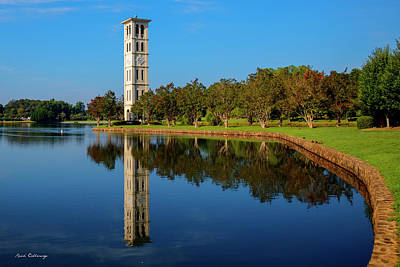Photograph - The Bell Tower Reflections Furman University Greenville South Carolina Art by Reid Callaway