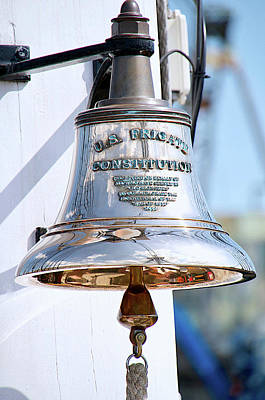 Photograph - The Bell U S S Constitution by Caroline Stella