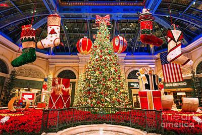The Bellagio Christmas Tree 2015 Art Print by Aloha Art