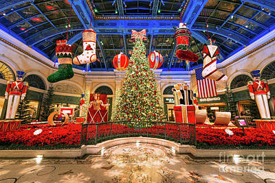 Photograph - The Bellagio Christmas Tree Wide 2015 by Aloha Art