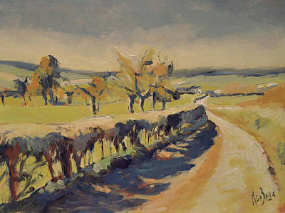 Painting - The Bellet Orchard by Nop Briex