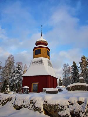 Photograph - The Bellfry Of Tottijarvi by Jouko Lehto