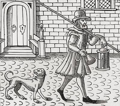 The Bellman Of London, 1616. From The Art Print