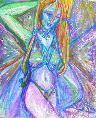 Seductive Mixed Media - The Belly Dancer by Sarah Crumpler