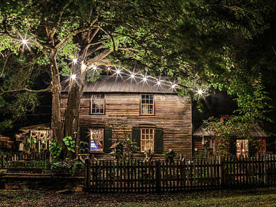 Photograph - Light From Within A Charming Rustic Home by Paula Porterfield-Izzo