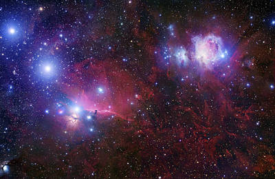 The Belt Stars Of Orion Print by Robert Gendler