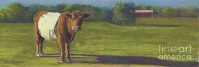 The Belted Cow Art Print by Terri  Meyer