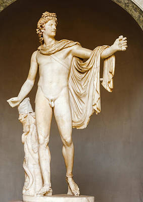 Photograph - The Belvedere Apollo - Statue In Vatican Museum by Marek Poplawski