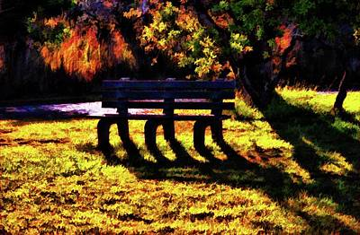 Photograph - The Bench 2 Version 3 by Kristalin Davis