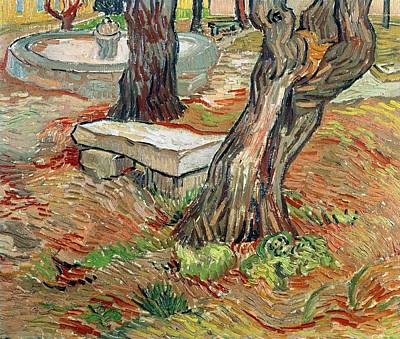 Painting - The Bench At Saint Remy by Artistic Panda
