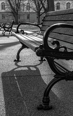 Photograph - The Bench Bw by Jonathan Nguyen