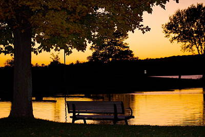 Photograph - The Bench By The Lake by Danielle Allard