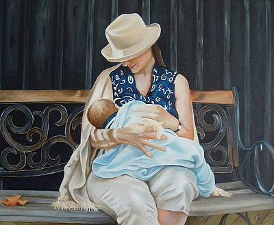 Bonding Painting - The Bench by Daniela Easter