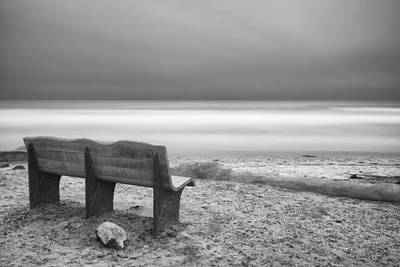 Black And White Art Photograph - The Bench by Larry Marshall