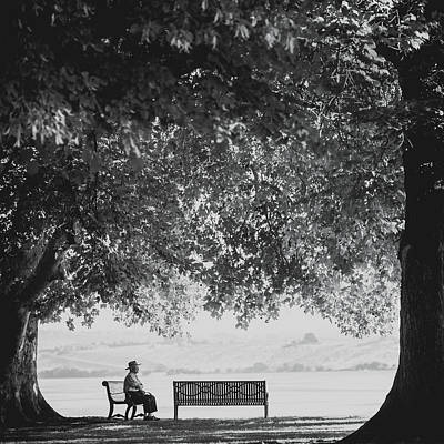 Citizens Park Photograph - The Bench Man by Debi Bishop