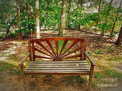 Photograph - The Bench by MaryLee Parker