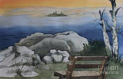 Painting - The Bench by Penny Stroening