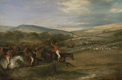 Painting - The Berkeley Hunt, 1842 - Full Cry by Francis Calcraft Turner