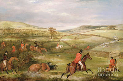 The Berkeley Hunt, 1842 The Chase  Art Print