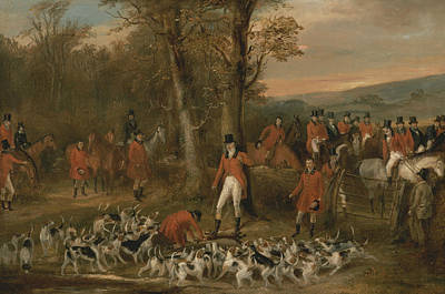 Painting - The Berkeley Hunt, 1842 - The Death by Francis Calcraft Turner