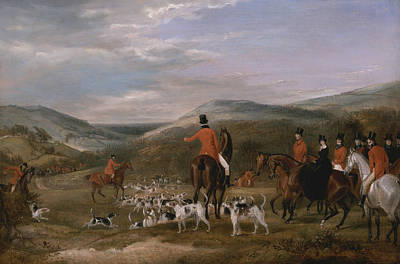 Painting - The Berkeley Hunt, 1842 - The Meet by Francis Calcraft Turner