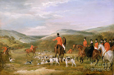 Rural Landscape Painting - The Berkeley Hunt by Francis Calcraft Turner