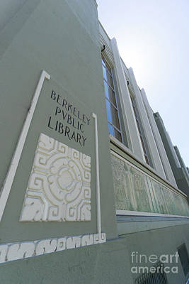 Photograph - The Berkeley Public Library Central Branch At University Of California Berkeley Dsc6320 by San Francisco Art and Photography