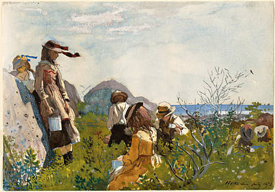 Winslow Homer Painting - The Berry Pickers by Winslow Homer