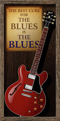 Jazz Digital Art - The Best Cure For The Blues 335 by WB Johnston