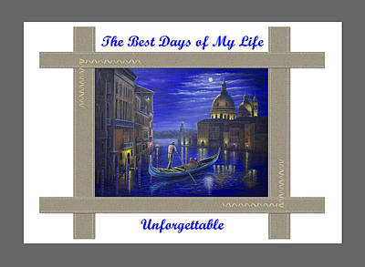 Painting - The Best Days Of My Life Are Unforgettable by Saeed Hojjati