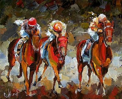 Kentucky Derby Painting - The Best by Debra Hurd