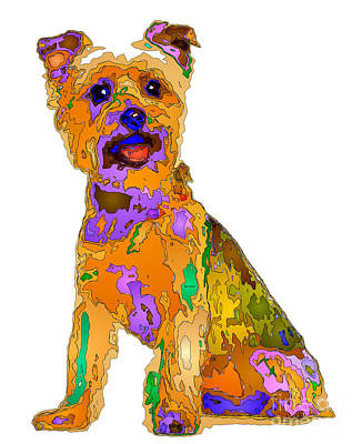 Digital Art - The Best Dog. Pet Series by Rafael Salazar