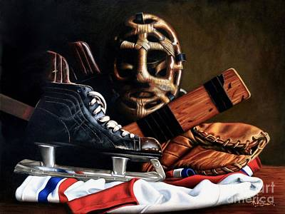 Hockey Art Painting - The Best Game You Can Name by Carole Rodrigue