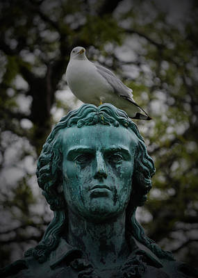 Statue Portrait Digital Art - The Best Perch In Chicago by Richard Andrews