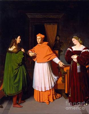 The Betrothal Of Raphael And The Niece Art Print