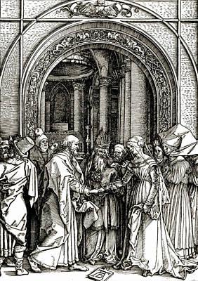 The Betrothal Of The Virgin Art Print