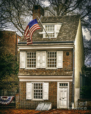 Photograph - The Betsy Ross House by Nick Zelinsky