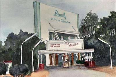 Painting - The Beverly Drive Inn by Bobby Walters