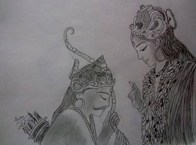 Mahabharata Painting - The Bhagavata Gita by Aurokanya Chattopadhya