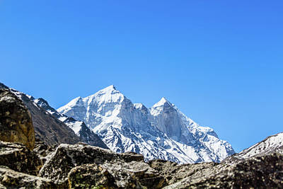 Photograph - The Bhagirati Peaks In The Indian Himalayas by Nila Newsom