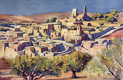 Martha Drawing - The Biblical Village Of Bethany, Near by Vintage Design Pics