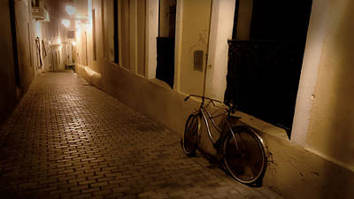 Photograph - The Bicycle And The Brick Road by DigiArt Diaries by Vicky B Fuller