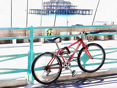 Photograph - The Bicycle And The West Pier by Dorothy Berry-Lound