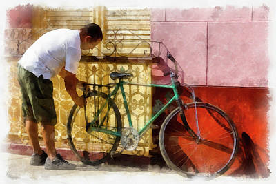 Photograph - The Bicycle by Dawn Currie