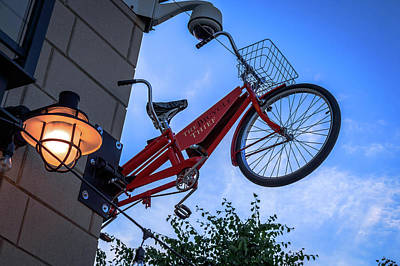 Halifax Town Clock Photograph - The Bicycle Thief - Halifax by Irena Kazatsker