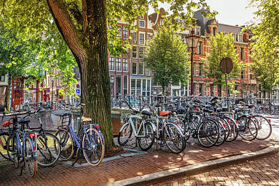 Photograph - The Bicycles Of Amsterdam by Debra and Dave Vanderlaan
