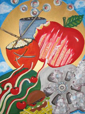 Painting - The Big Apple Ny by Krisztina Asztalos