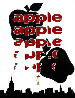 Empire State Building Painting - The Big Apple Rotten Apple by Turtle Caps