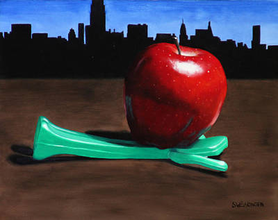Big Pun Painting - The Big Apple by Tom Swearingen
