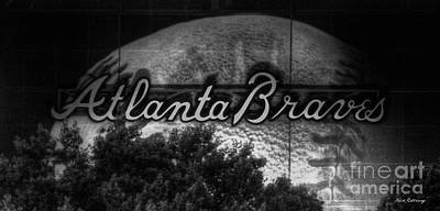 Photograph - The Big Ball 2 Atlanta Braves Baseball Signage Art by Reid Callaway